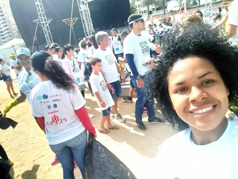 Atividade Coleta Seletiva. Margens do Rio São Francisco. Petrolina-PE. 21/09/2019.