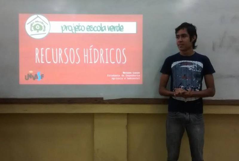 Atividades sobre Recursos Hídricos. Escola Joaquim André. Petrolina-PE. 12/05/2017.