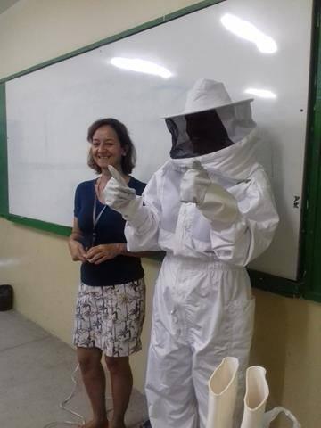 Atividades sobre cuidados e preservação das abelhas. Escola Humberto Soares. Petrolina-PE. 01-11-2016