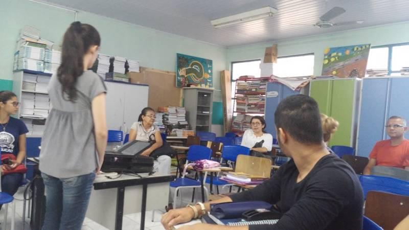 Atividade de apresentação do PEV e ambientalização - Escola Doutor Diego Rego Barros - Juazeiro-BA - 23.09.15