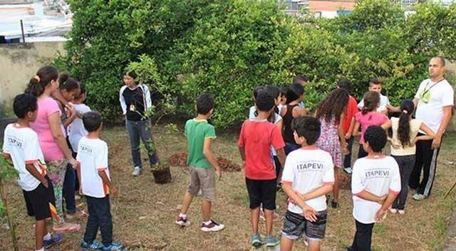 Atividades de Arborização. Projeto Escola Verde. Itapevi-SP