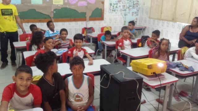 Atividades sobre Recursos Hídricos e Saneamento. Escola Luis Cursino. Juazeiro-BA. 08-11-2016
