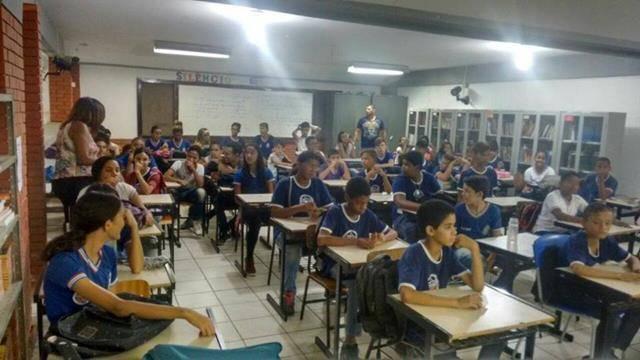 Atividades sobre Recursos Hídricos e Saneamento. Escola Polivalente Américo Tanuri. Juazeiro-BA. 04-11-2016