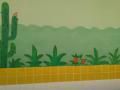 Pintura estilizada da Sala Verde. Univasf/Juazeiro. 17 e 22 de Julho de 2017.