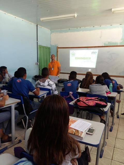 Saúde Ambiental. Zoonoses. Escola Antonilio de França Cardoso. Juazeiro-BA. 13-09-2016