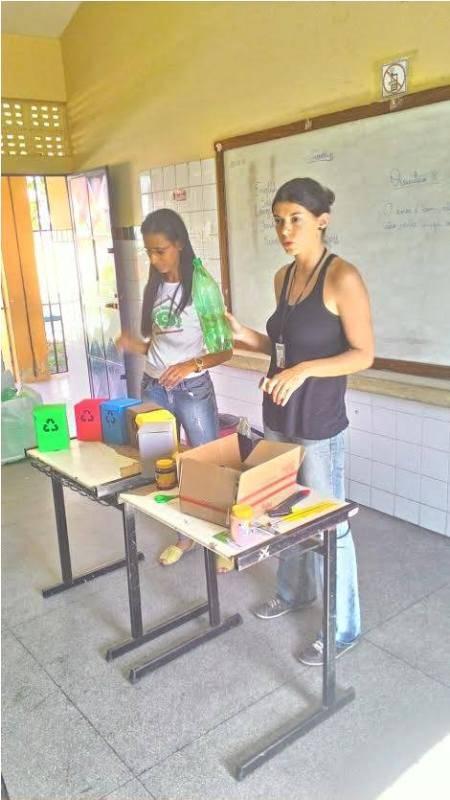 Atividade de arte ambiental - Escola Professor Simão Amorim Durando - Petrolina-PE - 03.10.15
