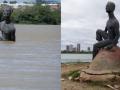 Intervenção de Arte Ambiental. Nego D'água pede socorro para o Velho Chico. Juazeiro-BA. 18/07/2017.