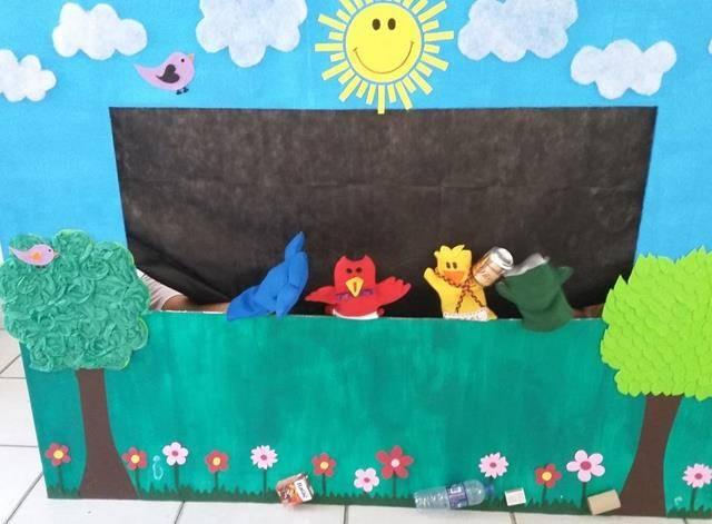 Arte Ambiental. Teatro de Fantoches. Escola Joca de Souza. Juazeiro-BA. 30-09-2016