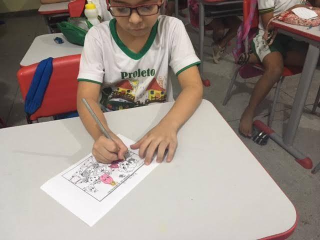 Arte Ambiental. Desenho, Pintura e Contação de Estória. Escola Maria Hozana Nunes. Juazeiro-BA. 23-09-2016