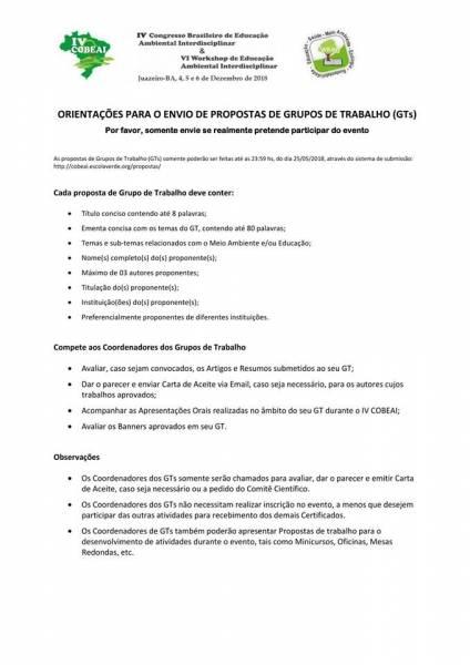 ÚLTIMOS DIAS PARA SUBMISSÃO DE PROPOSTAS PARA O COBEAI 2018