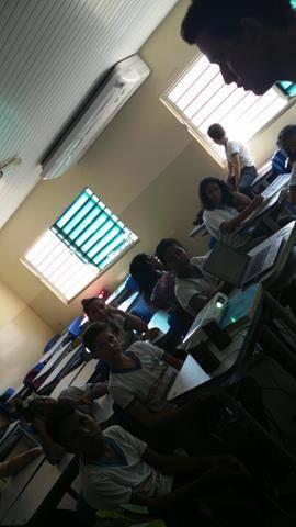 Atividades de Arborização. Escola Marechal Antonio Alves Filho (EMMAF). Petrolina-PE. 24-11-2016