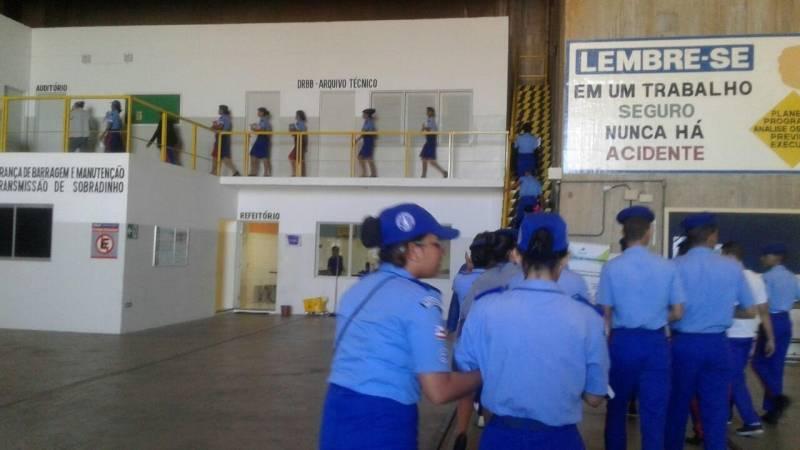 Visita Técnica à Usina Hidrelétrica da Chesf/Sobradinho. Colégio da Polícia Militar (CPM). Juazeiro-BA. 29/05/2017.