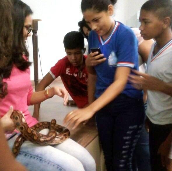 Visita Técnica ao Cemafauna. Escola Pedro Raimundo Rêgo. Juazeiro-BA. 17/07/2017.