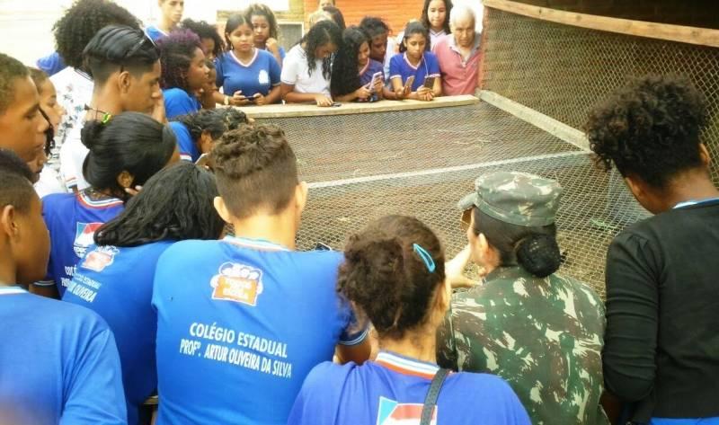 Visita Técnica ao Parque Zoobotânico. Escola Artur Oliveira. Juazeiro-BA. 16/06/2017.