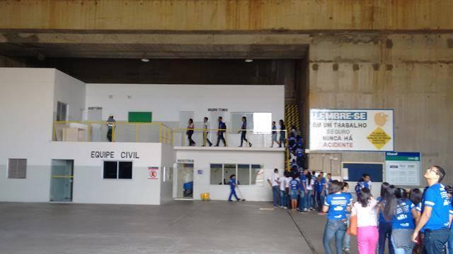 Visita Técnica - Usina Hidrelétrica da Chesf em Sobradinho-BA. Escola Dr Pacífico Rodrigues da Luz. Petrolina-PE. 20-05-2016