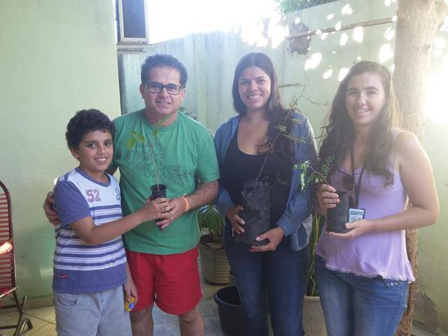 Vizinhança arborizada. Bairro Jardim Maravinha . Petrolina-PE. 08-07-2016