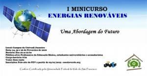 I Minicurso de Energias Renováveis
