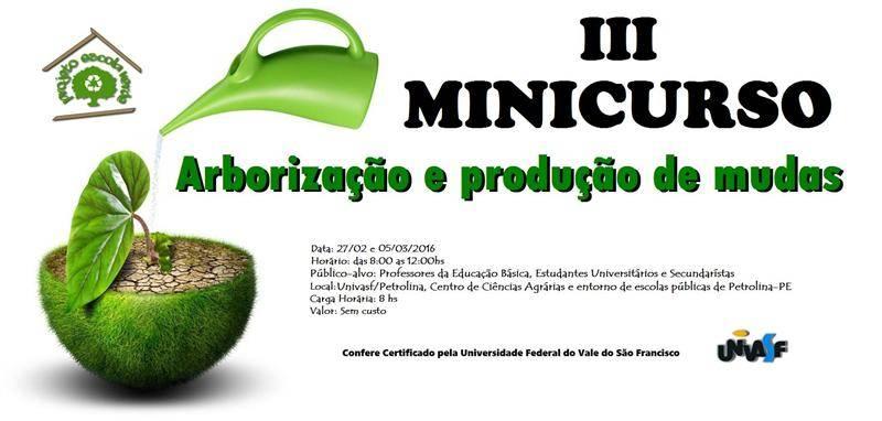 III Minicurso Arborização e Produção de Mudas