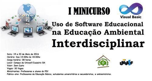 I Minicurso sobre o Uso de Software Educacional na Educação Ambiental Interdisciplinar