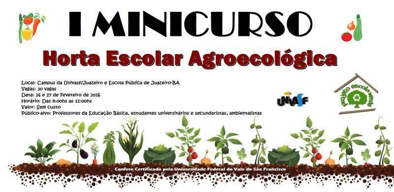 Minicurso de Horta Escolar Agroecológica