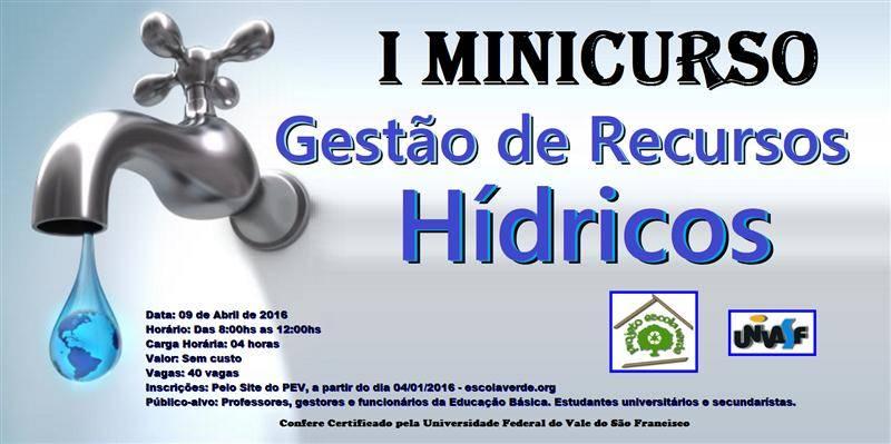 Minicurso de Recursos Hídricos