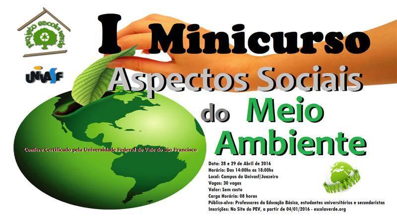 Minicurso de Aspectos Sociais do Meio Ambiente