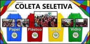 Coleta Seletiva. Programa Escola Verde. 2016