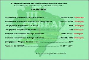 CALENDÁRIO ATUALIZADO