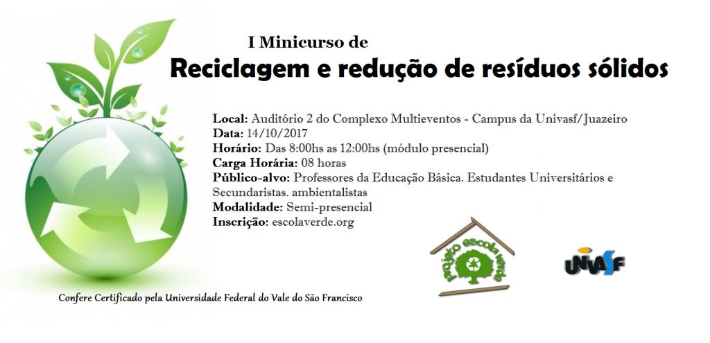 Banner do I Minicurso de Reciclagem