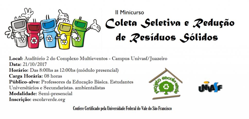 banner II minicurso coleta seletiva