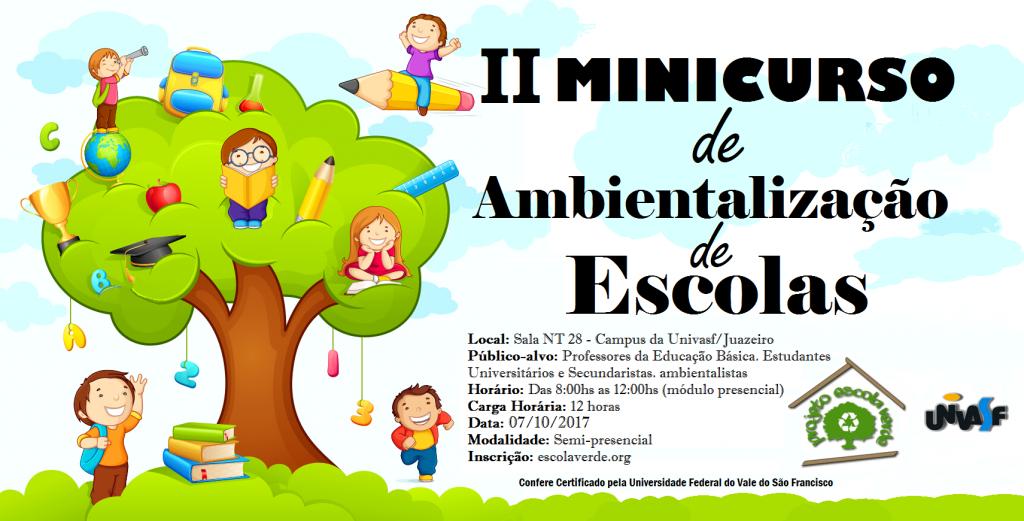 banner II minicurso de ambientalização de escolas