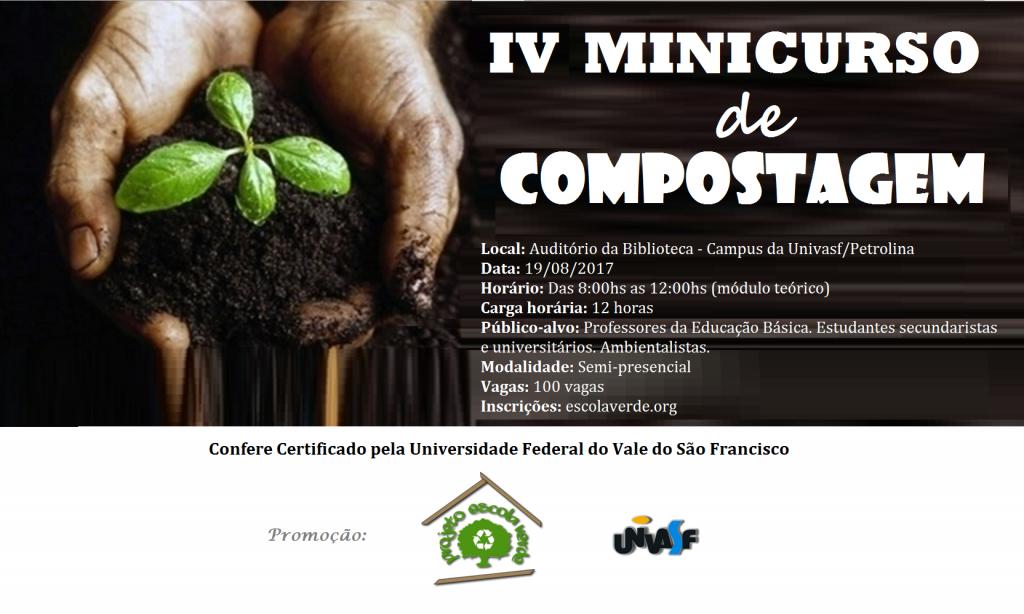banner II minicurso de compostagem