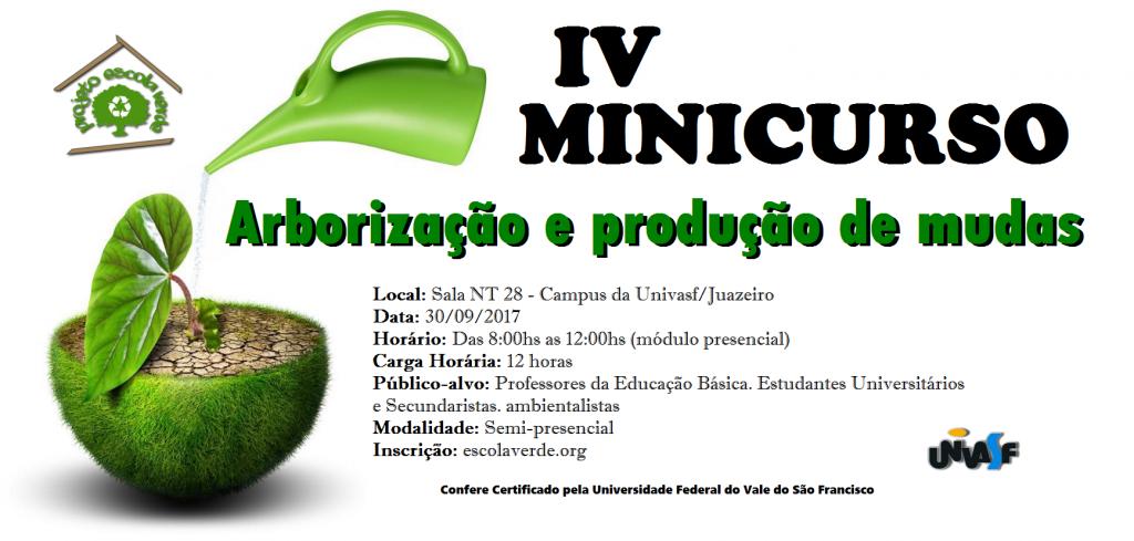 banner IV minicurso de produção de mudas e arborização