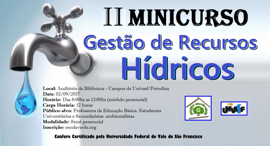 banner do II minicurso de recursos hídricos