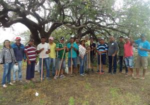 Pais de alunos preparam horta da escola