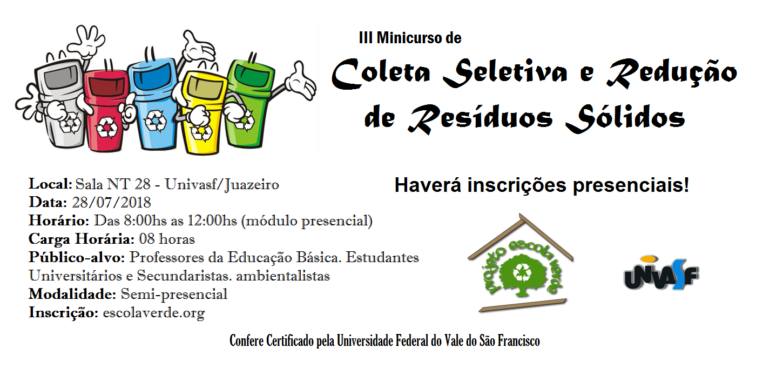 banner III minicurso coleta seletiva