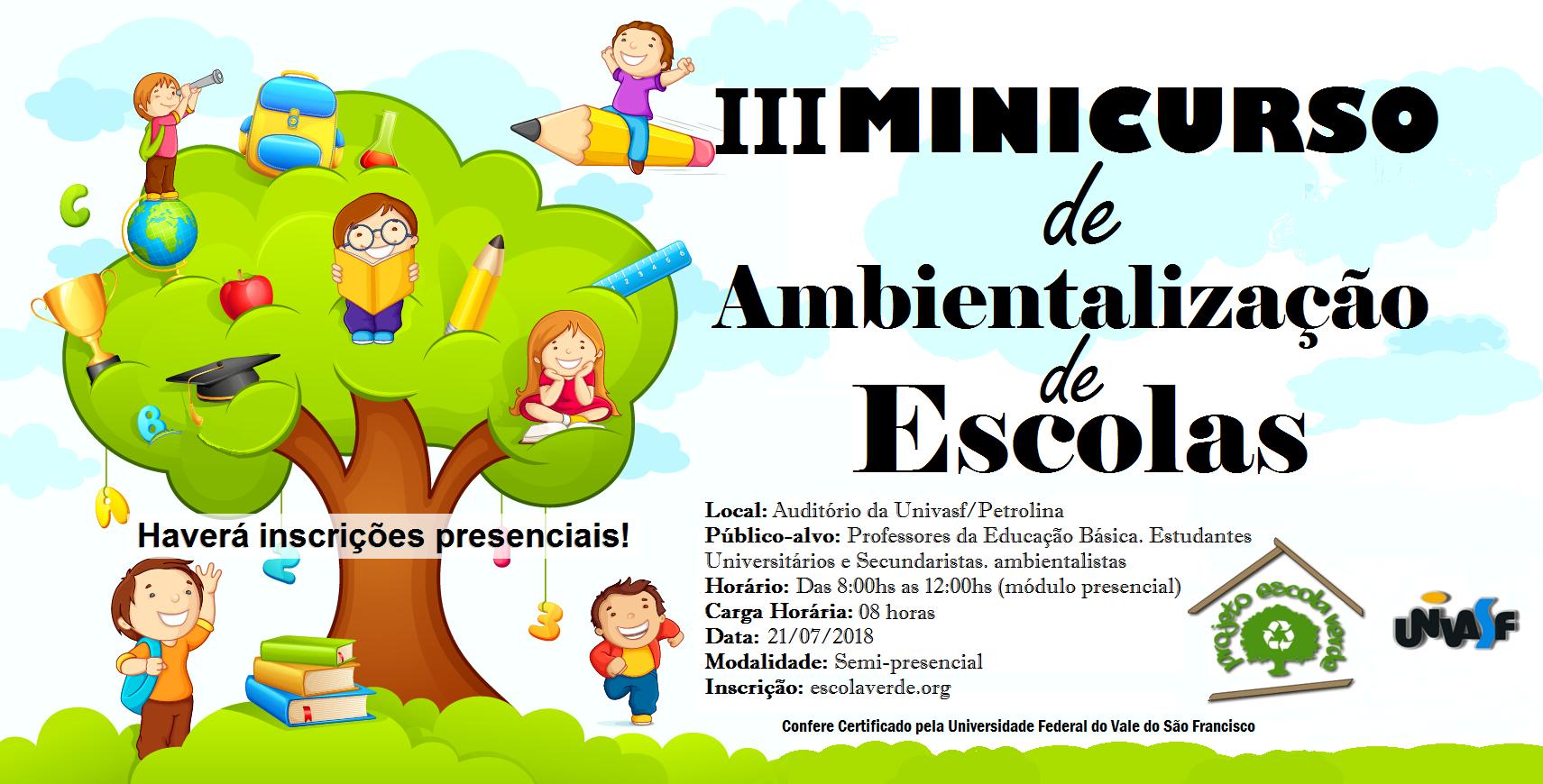 banner III minicurso de ambientalização de escolas
