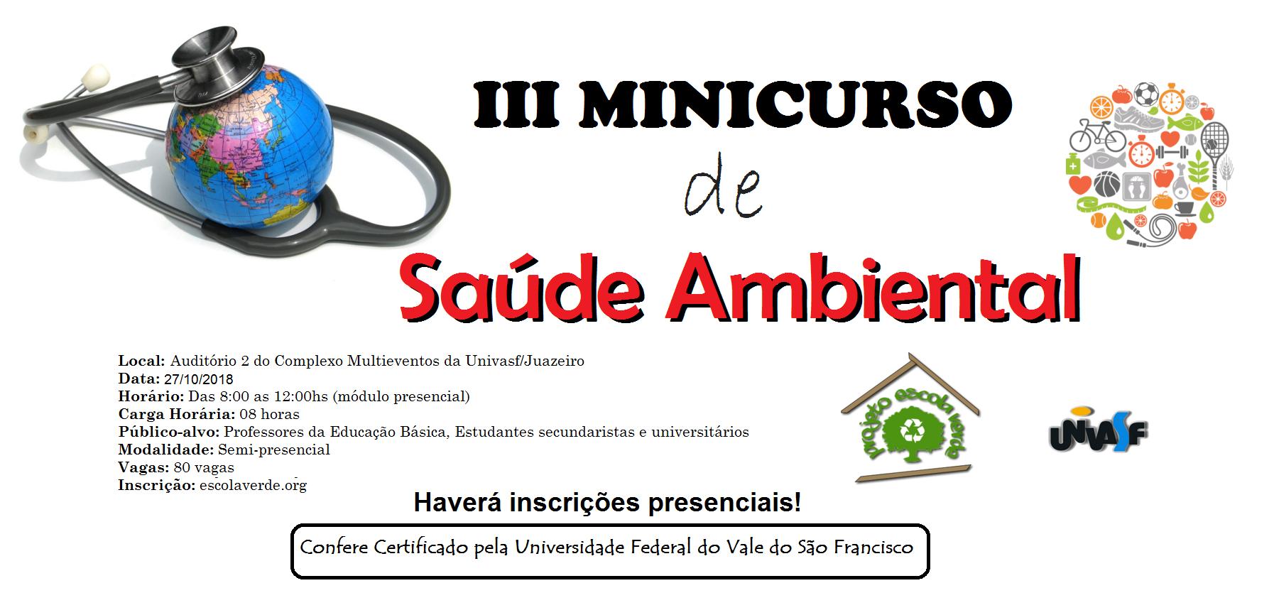 banner III minicurso de saúde ambiental