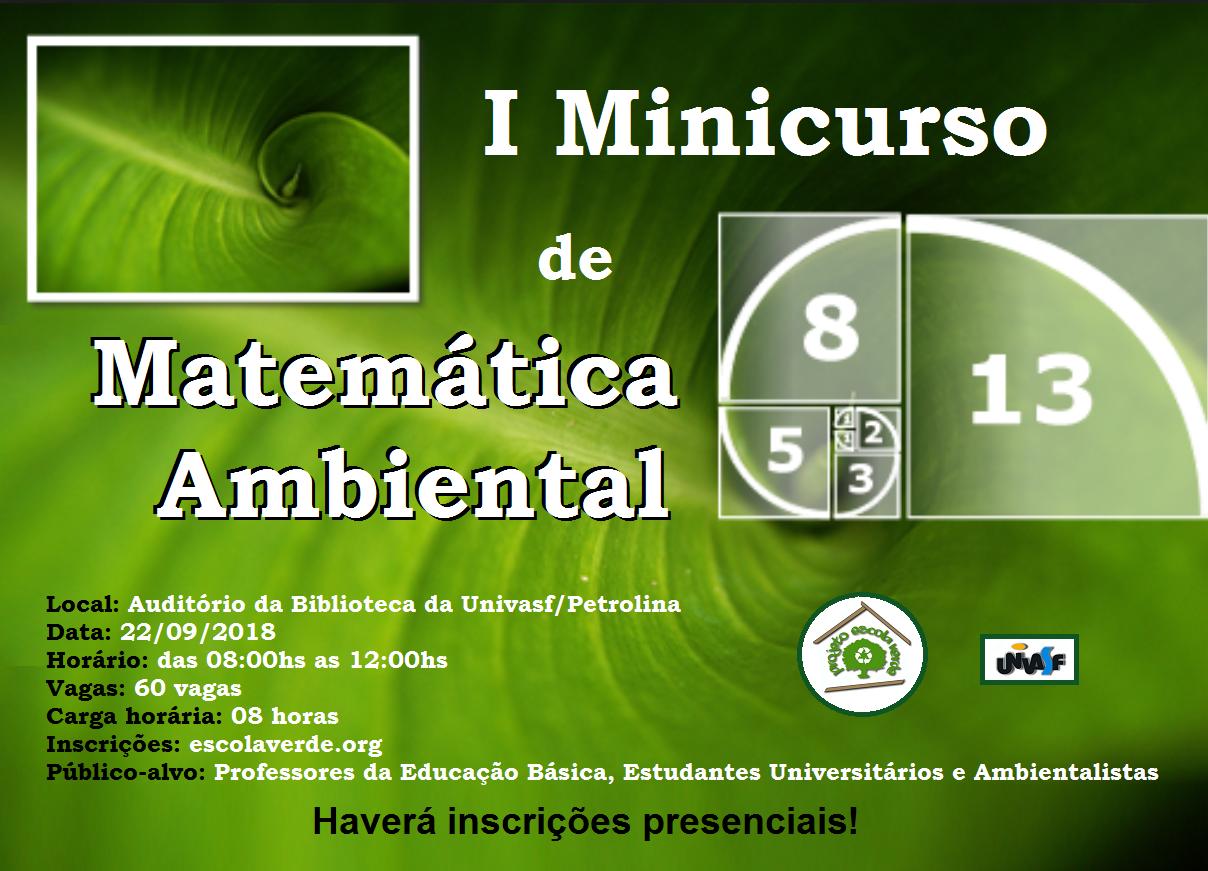 banner i minicurso de matemática ambiental