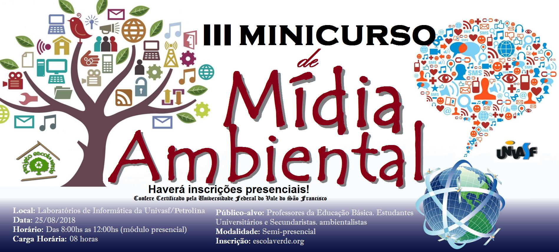 banner iii minicurso de mídia ambiental